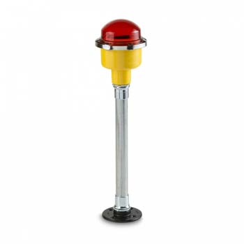 FEC LED Single Pole Mounted RED Obstruction Light